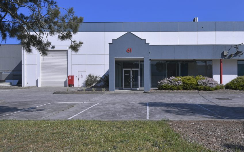 High Quality Modern Industrial Premises in Sought After & Tightly Held Precinct